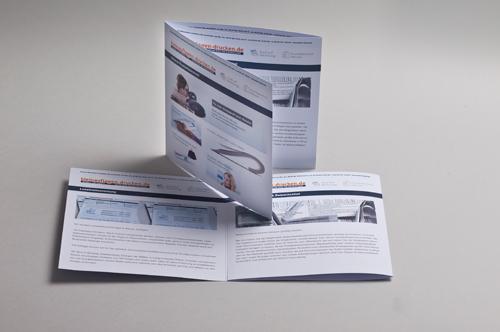 Übersichtsbild zum Bestellen von 6-seitigen Foldern im Format 210 x 210 mm als Wickelfalz