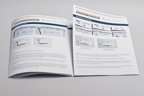 Übersichtsbild zum Bestellen von 8-seitigen Foldern in DIN A4 als Altarfalz