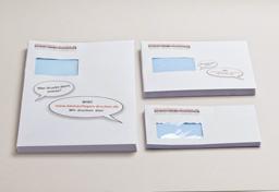 Übersichtsbild zum Bestellen von Briefumschlägen und Versandtaschen mit Fenster