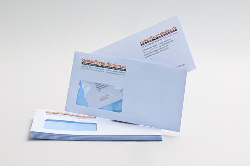 Übersichtsbild zum Bestellen von Briefhüllen in DIN lang mit Fenster