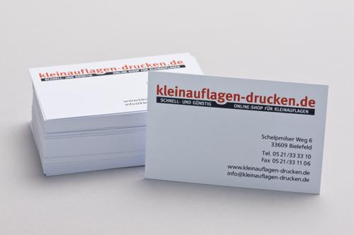 Übersichtsbild zum Bestellen von Visitenkarten in 85 x 55 mm